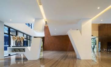 现代大厦大厅装修案例